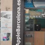 Rotulación nombre comercial pintado por ArteExtra para Apple Barcelona