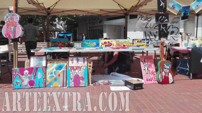 Stand Arte Extra en Fira de Comerciants Camp de l'Arpa - ArteExtra 2017