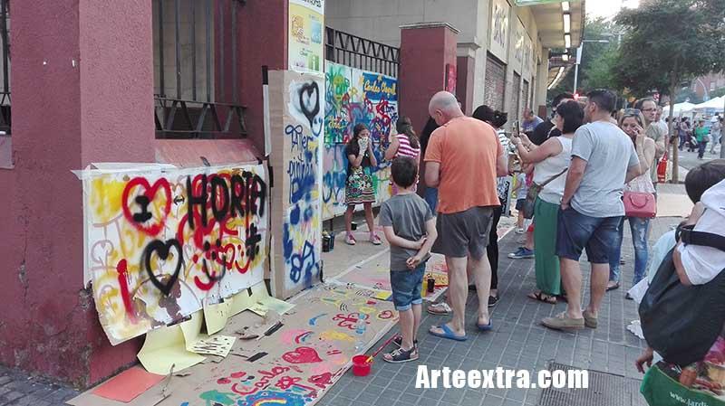 Taller Graffiti Horta ArteExtra Barcelona