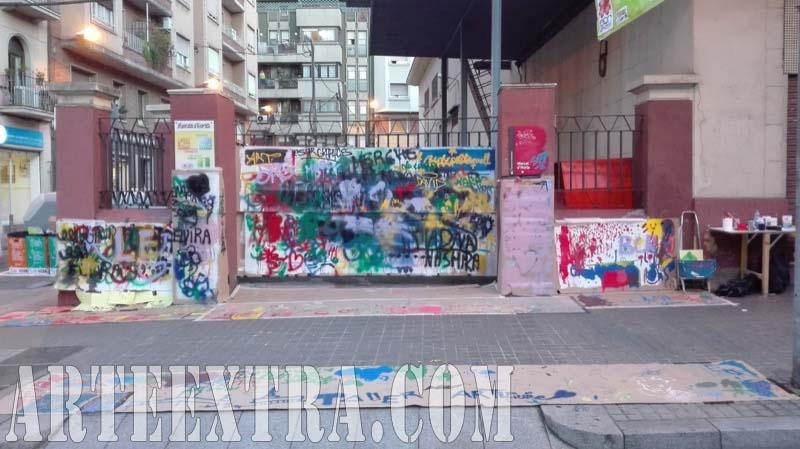 Taller graffiti pintura infantil Mercat Horta - ArteExtra Barcelona