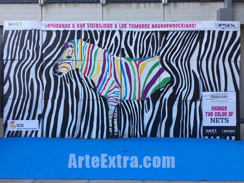 Resultado final taller Team Building graffiti para Institut Català d'Oncologia Barcelona - ArteExtra 2017