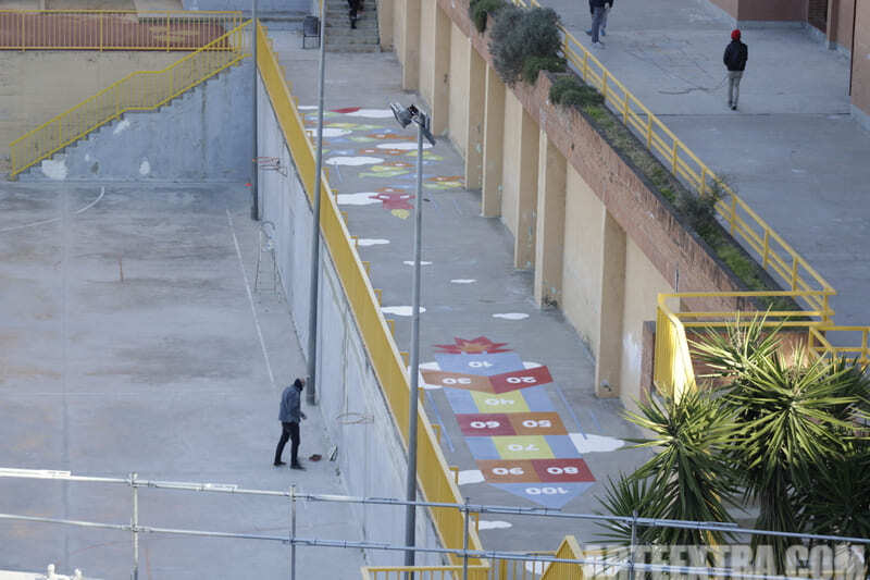 Trabajo graffiti ARTEEXTRA en Escuela Ferrer i Guardia 1