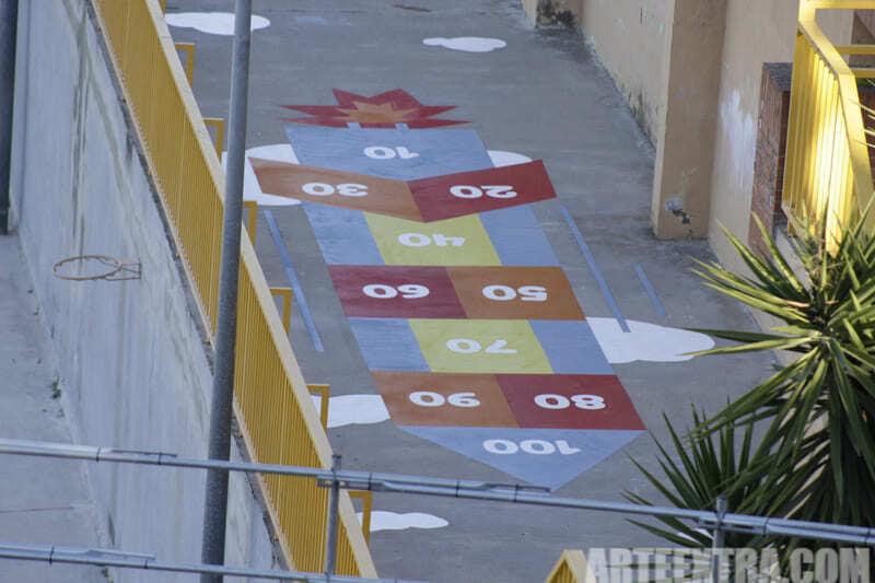 Trabajo graffiti ARTEEXTRA en Escuela Ferrer i Guardia 2