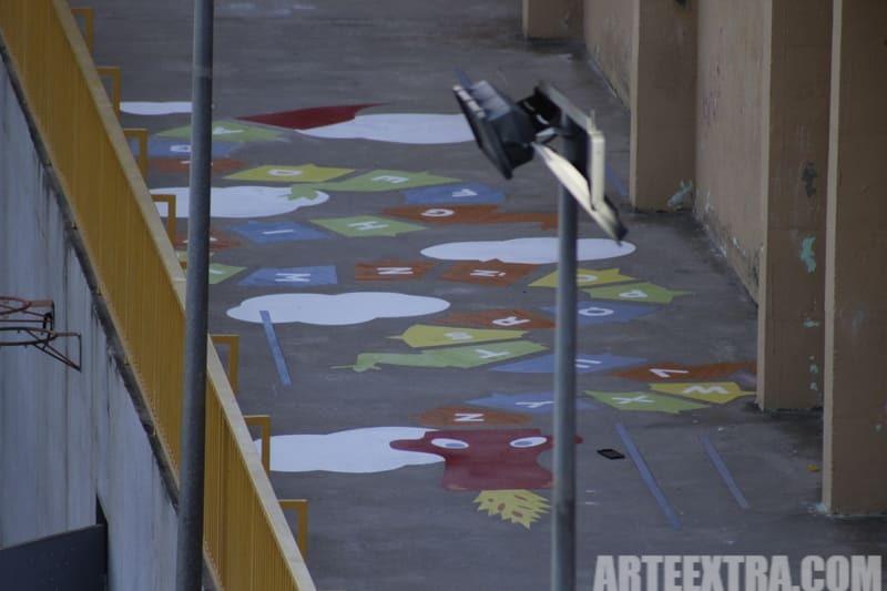 Trabajo graffiti ARTEEXTRA en Escuela Ferrer i Guardia 3