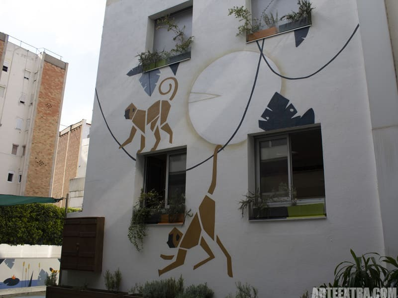 Trabajo graffiti ARTEEXTRA en Escuela Palcam 1