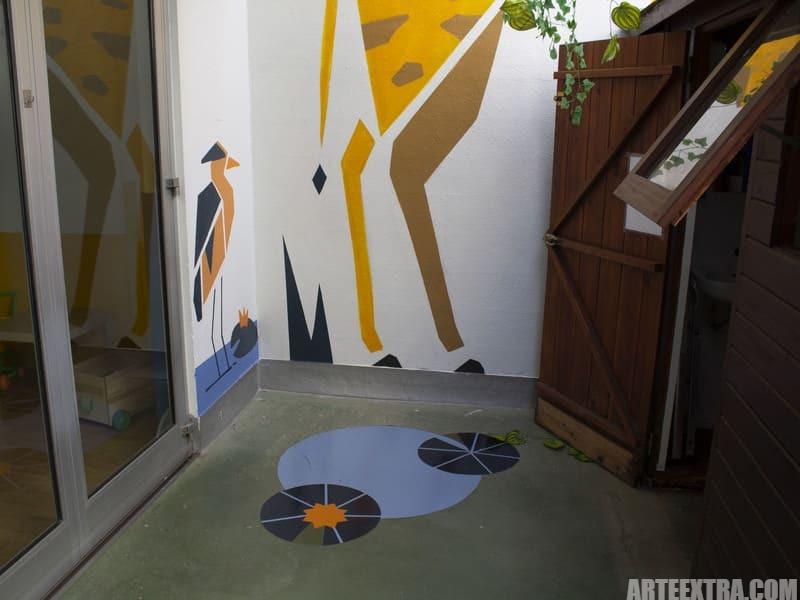 Trabajo graffiti ARTEEXTRA en Escuela Palcam 3