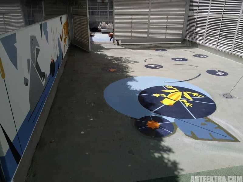 Trabajo graffiti ARTEEXTRA en Escuela Palcam 4