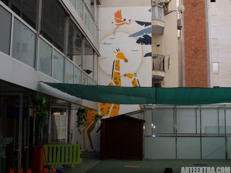 Trabajo graffiti ARTEEXTRA en Escuela Palcam 5