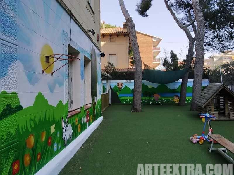 Trabajo graffiti ARTEEXTRA en Escuela Zurich 10