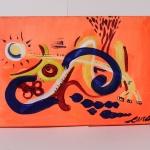 arteextra pintura mural naranja