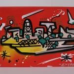 arteextra pintura mural naranja 3