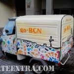 Decoración personalizada graffiti de furgoneta comercial en Barcelona por ARTEEXTRA