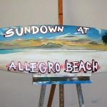 Decoración tabla surf para evento publicidad