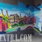 Decoración mural para parking en Horta Guinardó en Barcelona - ArteExtra