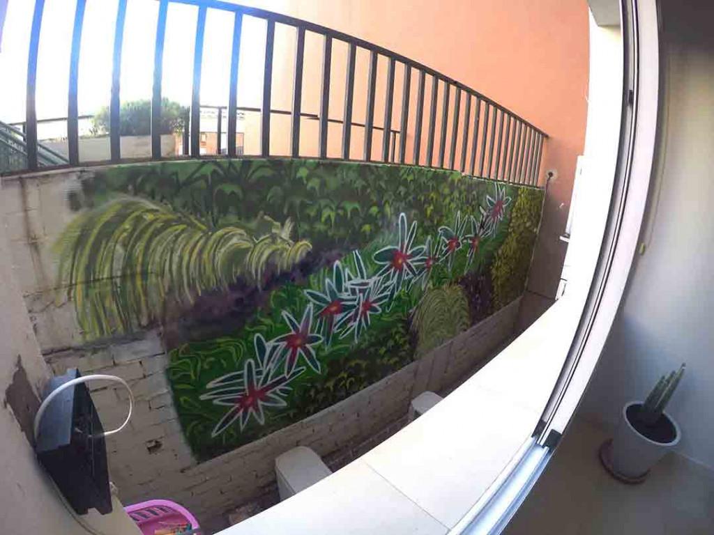 Dibujo para dar la sensación de un jardín vertical.