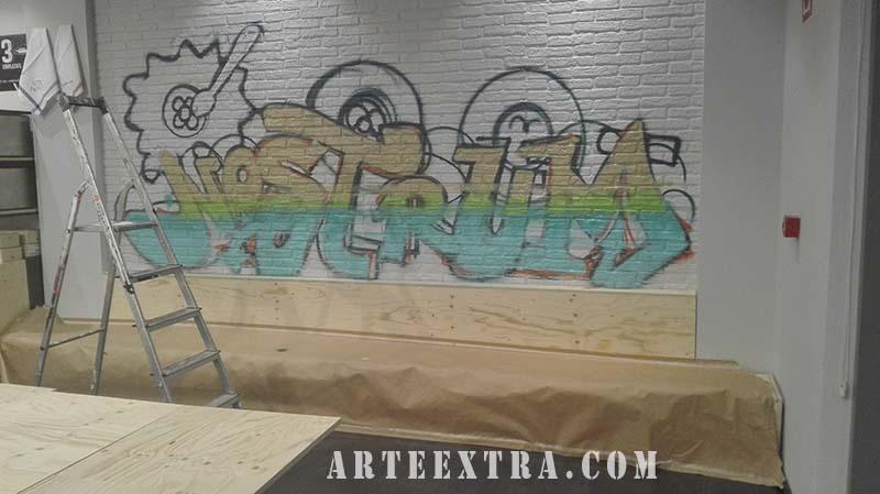 grafiti mural nostrum barcelona