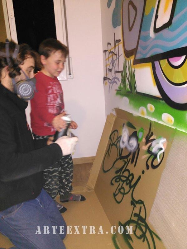 habitacion infantil grafiti decoracion barcelona