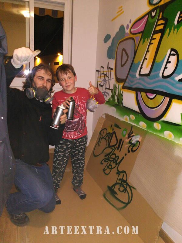 habitacion infantil grafiti