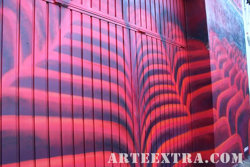 mural detall graffiti pintura arte extra