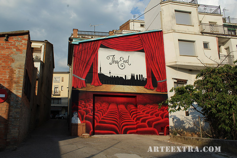 mural graffiti cinema oliana arte extra