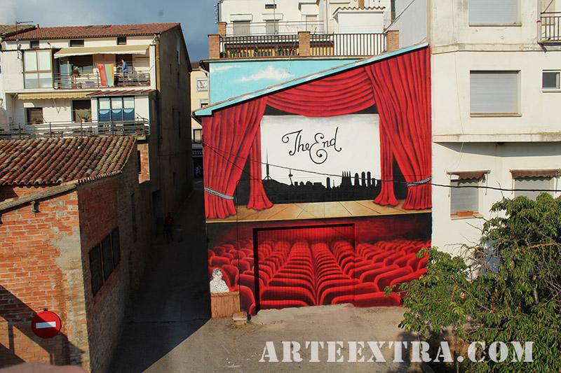 mural graffiti oliana cinema paret arte extra