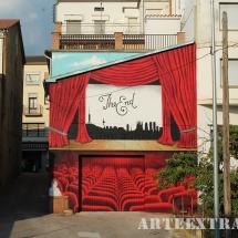 mural graffiti pintura arte extra oliana lleida