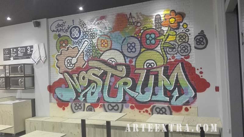 mural grafiti decoracion barcelona