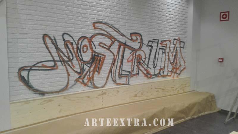mural grafiti decoracion interior barcelona
