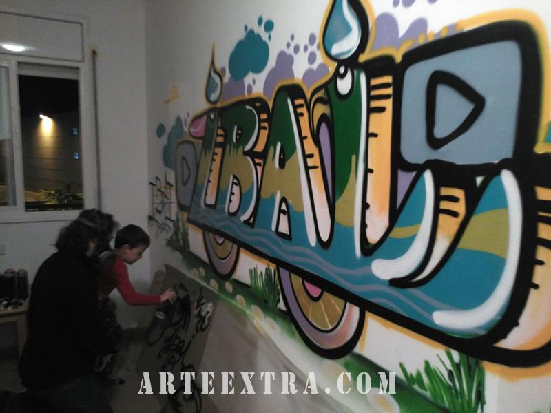 mural habitacion infantil grafiti barcelona arteextra