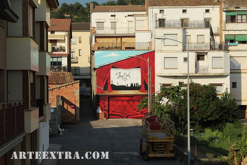 mural oliana graffiti pintura arteextra