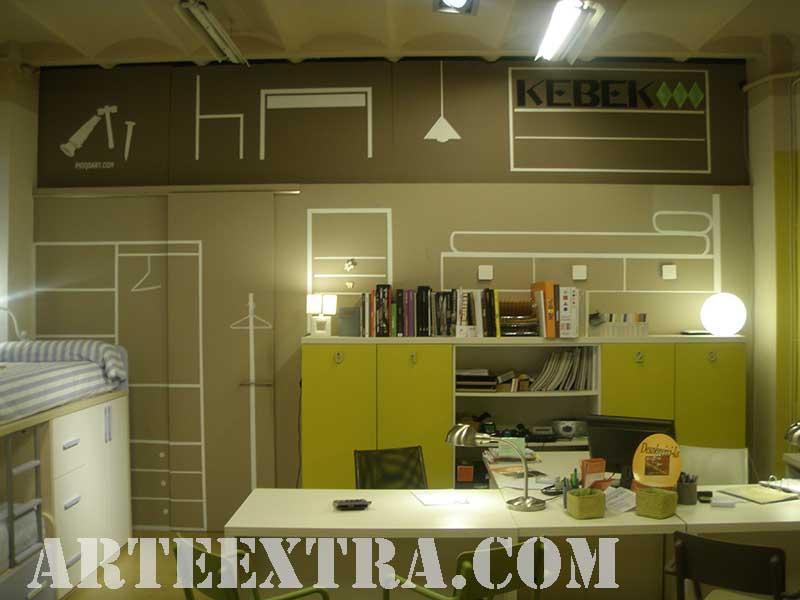 Mural descorativo para tienda de muebles en Barcelona - ArteExtra