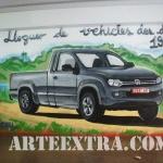 Graffiti mural interior en establecimiento de alquiler de coches - ArteExtra
