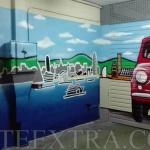Puerta metálica parking en Les Corts Barcelona decorada en graffiti - ArteExtra - 2
