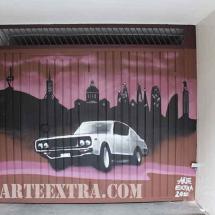 Decoració exterior graffiti exterior dibuix a Barcelona