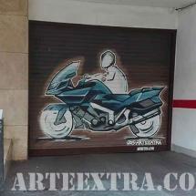 Decoració de parking mural