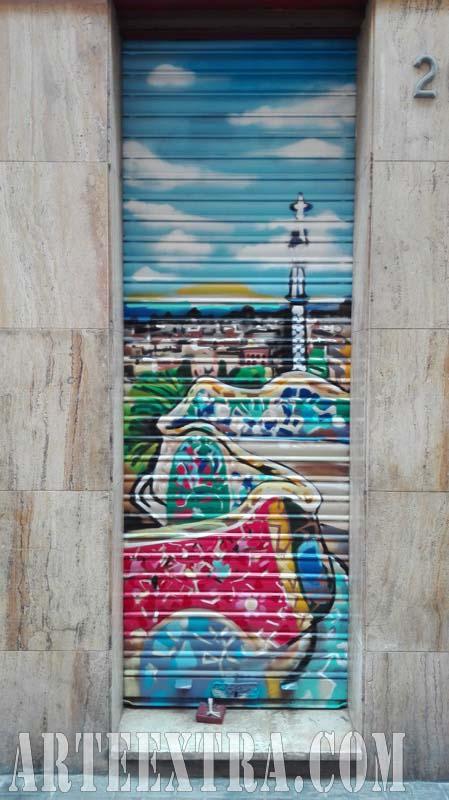 Persiana metálica Park Güell - Pintura exterior profesional ArteExtra