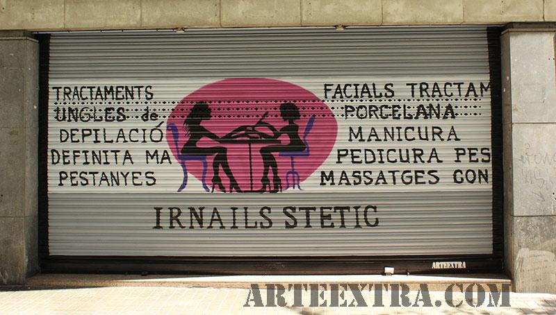 Decoración graffiti persiana barcelona