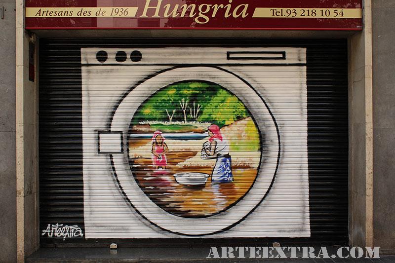 decoración persianas graffiti barcelona