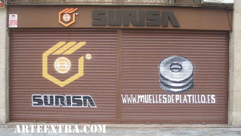 Decoración graffiti murales persianas