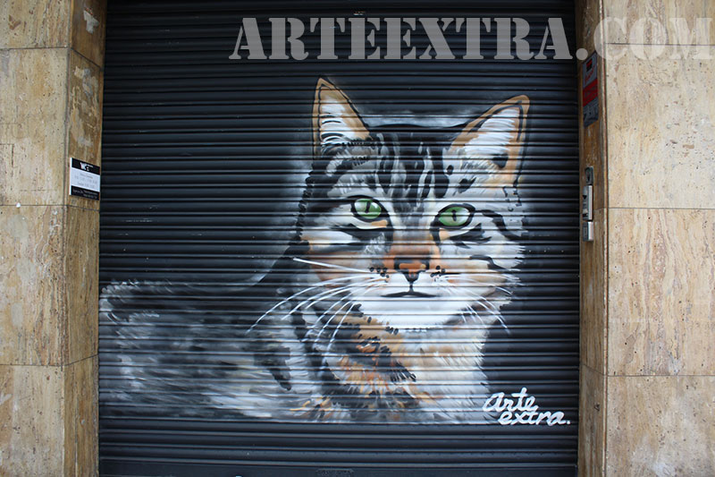 Persianes de comerç pintades espray a barcelona
