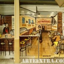 Persiana cafeteria barcelona graffiti decoración