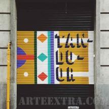 Restaurant persiana pintada graffiti spray decoració