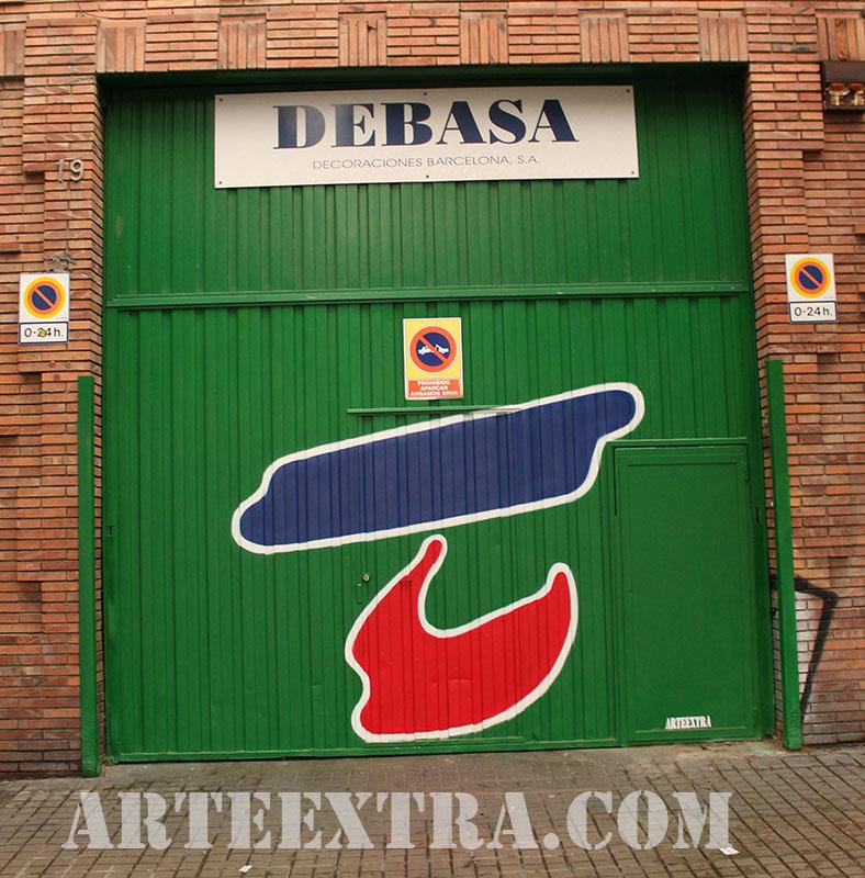 persiana tienda barcelona decoracion logo graffiti