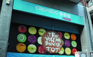 Empresa profesional persianas metálicas decoradas con pintura spray para dibujo graffiti en Barcelona