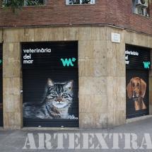 Persianas decoración arteextra barcelona graffiti