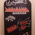 Pintura personalizada con logos grupos musicales para Discoteca Bóveda en Barcelona por ARTEEXTRA