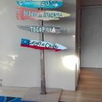 Pintura personalizada para decoración tienda jamones en Barcelona