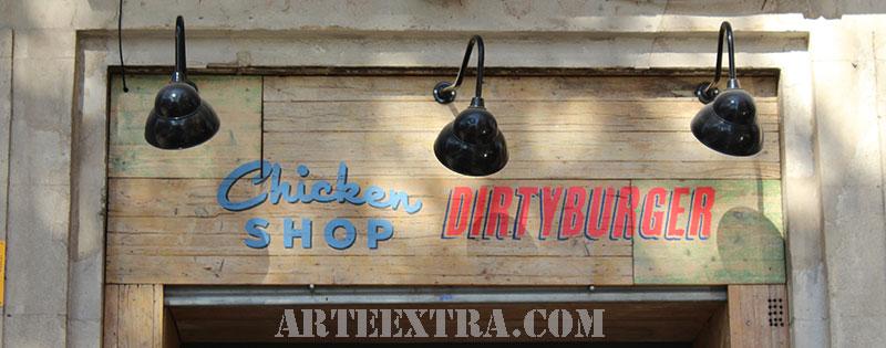 pintura_rotulacion_cartel_restaurante_madera