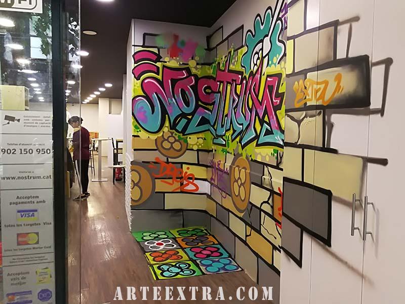 restaurante decoracion grafiti