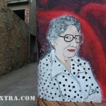 retrat pintura mural graffiti barcelona lleida oliana arte Extra